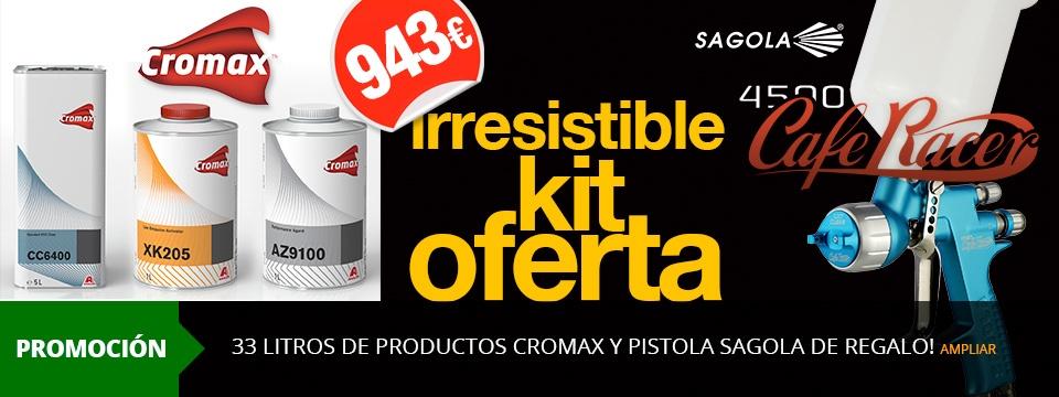 33 LITROS DE PRODUCTOS CROMAX Y PISTOLA SAGOLA DE REGALO!