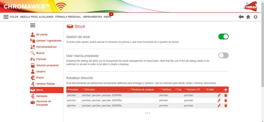 gestion stock chromaweb